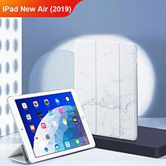 Custodia Portafoglio In Pelle con Supporto L02 per Apple iPad New Air (2019) 10.5 Bianco