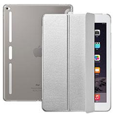 Custodia Portafoglio In Pelle con Supporto L02 per Apple iPad Pro 12.9 Argento