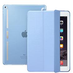 Custodia Portafoglio In Pelle con Supporto L02 per Apple iPad Pro 12.9 Cielo Blu