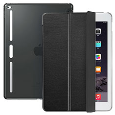 Custodia Portafoglio In Pelle con Supporto L02 per Apple iPad Pro 12.9 Nero