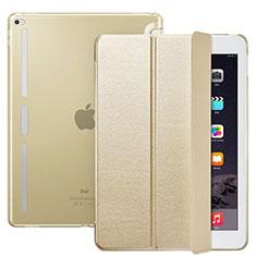 Custodia Portafoglio In Pelle con Supporto L02 per Apple iPad Pro 12.9 Oro