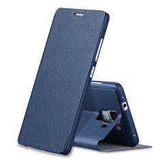 Custodia Portafoglio In Pelle con Supporto L02 per Huawei Honor 7 Blu