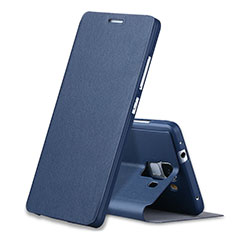 Custodia Portafoglio In Pelle con Supporto L02 per Huawei Honor 7 Dual SIM Blu