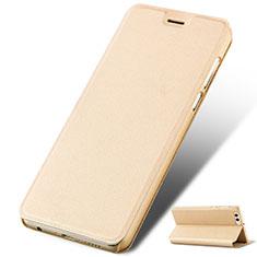 Custodia Portafoglio In Pelle con Supporto L02 per Huawei Honor V10 Oro