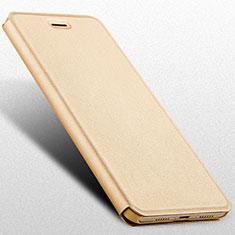 Custodia Portafoglio In Pelle con Supporto L02 per Huawei Honor V9 Play Oro