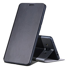Custodia Portafoglio In Pelle con Supporto L02 per Huawei Mate 10 Nero