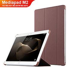 Custodia Portafoglio In Pelle con Supporto L02 per Huawei MediaPad M2 10.0 M2-A01 M2-A01W M2-A01L Marrone