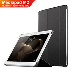 Custodia Portafoglio In Pelle con Supporto L02 per Huawei MediaPad M2 10.0 M2-A01 M2-A01W M2-A01L Nero