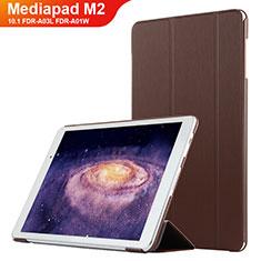 Custodia Portafoglio In Pelle con Supporto L02 per Huawei MediaPad M2 10.1 FDR-A03L FDR-A01W Marrone