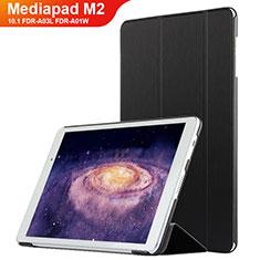 Custodia Portafoglio In Pelle con Supporto L02 per Huawei MediaPad M2 10.1 FDR-A03L FDR-A01W Nero
