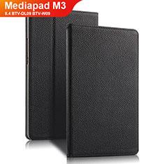 Custodia Portafoglio In Pelle con Supporto L02 per Huawei Mediapad M3 8.4 BTV-DL09 BTV-W09 Nero