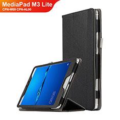 Custodia Portafoglio In Pelle con Supporto L02 per Huawei MediaPad M3 Lite 8.0 CPN-W09 CPN-AL00 Nero