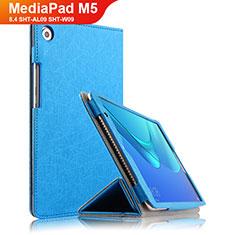 Custodia Portafoglio In Pelle con Supporto L02 per Huawei MediaPad M5 8.4 SHT-AL09 SHT-W09 Blu