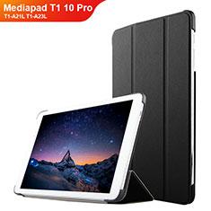 Custodia Portafoglio In Pelle con Supporto L02 per Huawei Mediapad T1 10 Pro T1-A21L T1-A23L Nero