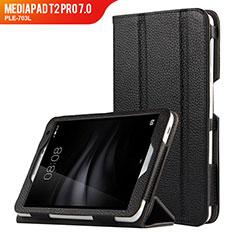 Custodia Portafoglio In Pelle con Supporto L02 per Huawei MediaPad T2 Pro 7.0 PLE-703L Nero