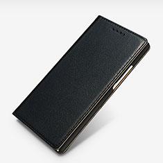Custodia Portafoglio In Pelle con Supporto L02 per Huawei P7 Dual SIM Nero