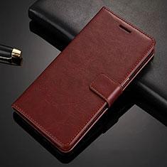 Custodia Portafoglio In Pelle con Supporto L02 per Nokia 6.1 Plus Marrone