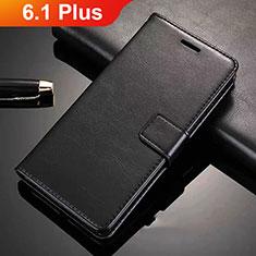 Custodia Portafoglio In Pelle con Supporto L02 per Nokia 6.1 Plus Nero