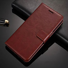 Custodia Portafoglio In Pelle con Supporto L02 per Nokia X6 Marrone
