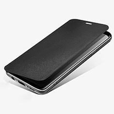 Custodia Portafoglio In Pelle con Supporto L02 per Samsung Galaxy S9 Nero