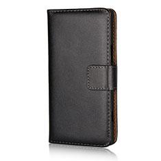 Custodia Portafoglio In Pelle con Supporto L02 per Sony Xperia XZ1 Compact Nero