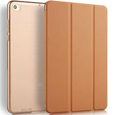 Custodia Portafoglio In Pelle con Supporto L02 per Xiaomi Mi Pad 3 Marrone