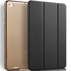 Custodia Portafoglio In Pelle con Supporto L02 per Xiaomi Mi Pad 3 Nero