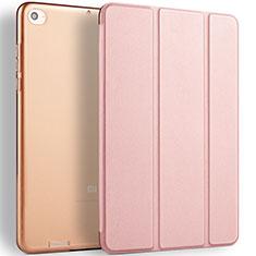 Custodia Portafoglio In Pelle con Supporto L02 per Xiaomi Mi Pad 3 Oro Rosa