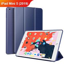 Custodia Portafoglio In Pelle con Supporto L03 per Apple iPad Mini 5 (2019) Blu