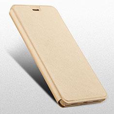 Custodia Portafoglio In Pelle con Supporto L03 per Huawei Honor 6X Oro