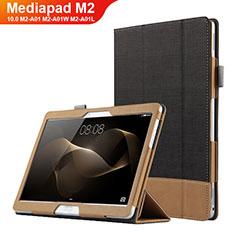 Custodia Portafoglio In Pelle con Supporto L03 per Huawei MediaPad M2 10.0 M2-A01 M2-A01W M2-A01L Nero