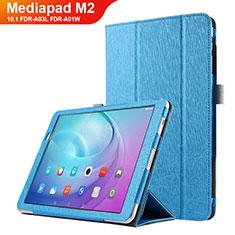 Custodia Portafoglio In Pelle con Supporto L03 per Huawei MediaPad M2 10.1 FDR-A03L FDR-A01W Cielo Blu