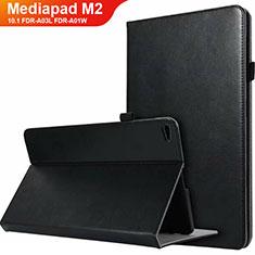 Custodia Portafoglio In Pelle con Supporto L03 per Huawei MediaPad M2 10.1 FDR-A03L FDR-A01W Nero