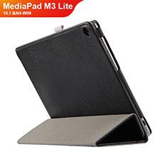 Custodia Portafoglio In Pelle con Supporto L03 per Huawei MediaPad M3 Lite 10.1 BAH-W09 Nero