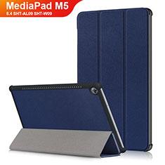 Custodia Portafoglio In Pelle con Supporto L03 per Huawei MediaPad M5 8.4 SHT-AL09 SHT-W09 Blu