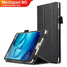 Custodia Portafoglio In Pelle con Supporto L04 per Huawei Mediapad M3 8.4 BTV-DL09 BTV-W09 Nero