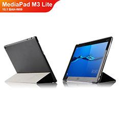 Custodia Portafoglio In Pelle con Supporto L04 per Huawei MediaPad M3 Lite 10.1 BAH-W09 Nero