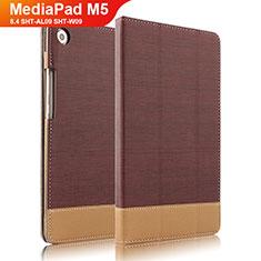 Custodia Portafoglio In Pelle con Supporto L04 per Huawei MediaPad M5 8.4 SHT-AL09 SHT-W09 Marrone