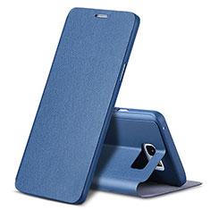 Custodia Portafoglio In Pelle con Supporto L04 per Samsung Galaxy Note 5 N9200 N920 N920F Blu