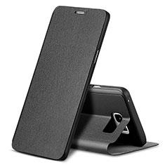 Custodia Portafoglio In Pelle con Supporto L04 per Samsung Galaxy Note 5 N9200 N920 N920F Nero