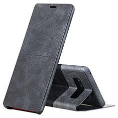 Custodia Portafoglio In Pelle con Supporto L04 per Samsung Galaxy Note 8 Duos N950F Nero