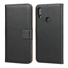 Custodia Portafoglio In Pelle con Supporto L04 per Xiaomi Redmi Note 7 Pro Nero