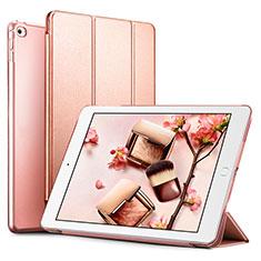 Custodia Portafoglio In Pelle con Supporto L05 per Apple iPad Mini 4 Oro Rosa