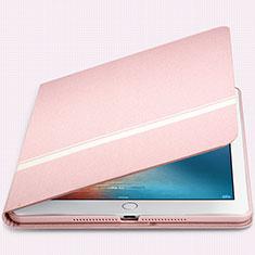 Custodia Portafoglio In Pelle con Supporto L05 per Apple New iPad 9.7 (2017) Rosa