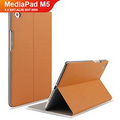 Custodia Portafoglio In Pelle con Supporto L05 per Huawei MediaPad M5 8.4 SHT-AL09 SHT-W09 Marrone