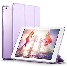 Custodia Portafoglio In Pelle con Supporto L06 per Apple iPad Mini 3 Viola