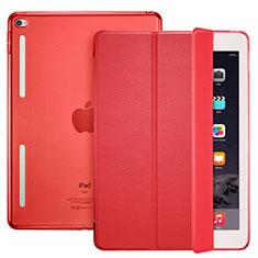 Custodia Portafoglio In Pelle con Supporto L06 per Apple iPad Mini 4 Rosso
