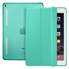 Custodia Portafoglio In Pelle con Supporto L06 per Apple iPad Mini 4 Verde