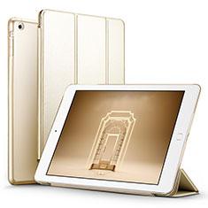 Custodia Portafoglio In Pelle con Supporto L06 per Apple iPad Mini Oro