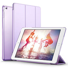 Custodia Portafoglio In Pelle con Supporto L06 per Apple iPad Mini Viola